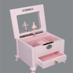 Nuovo disegno personalizzato scatola di gioielli colore bianco rosa regali di legno Di Music Box