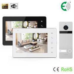 IP/WiFi 2-drahtige HD Noten-Tasten-intelligente Sicherheits-videotür-Telefon-System