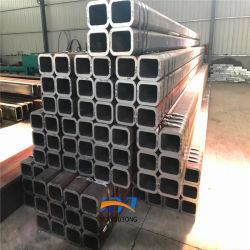 Para Carports Tubo Quadrado de papelão ondulado de alta qualidade EN10210 S235 do Tubo de Aço Preto Tubo retangular de ferro