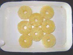 Comida saudável Conservas de fatias de abacaxi Food 454 G