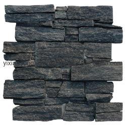 벽 돌 위원회를 위한 검정에 의하여 겹쳐 쌓이는 선반 문화 돌