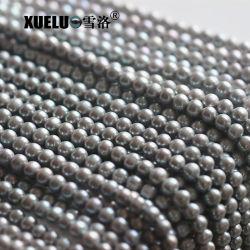 7-8mm AAの品質の灰色の円形の自然な淡水の真珠の物質的な卸し売り製造者、Zhujiは真珠で飾る(XL180087)