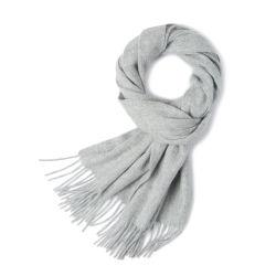Образом из светло-серый 100% шерсть кашемира шарфы
