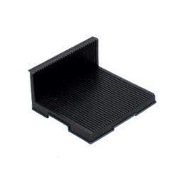 preço de fábrica Anti-Static ESD L tipo bandeja PCB Rack de circulação condutiva para salas brancas