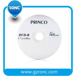 Alta qualidade virgem 4,7GB 16X 120min Princo DVD -R