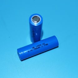 Beste kwaliteit 14500 3,7 V 750 mAh oplaadbare lithium-ionbatterij voor LED-zaklamp