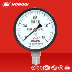 Misuratore di pressione meccanico per saldatura Hongqi® refrigerazione misuratore di ammoniaca Test dello strumento indicatore puntatore dello strumento in fabbrica