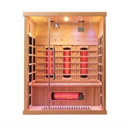 De madera maciza de alta calidad hasta la sala de masajes sauna de infrarrojos El Panel de control