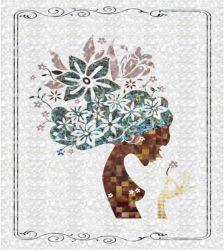 Hermoso lujo de Waterjet Shell Mosaico patrón Madre de Pearl Mosaic Medallón para la venta
