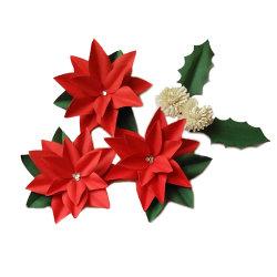 DIY цветов бумаги ручной работы комплект материалов Рождества букет