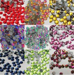 Ab posterior plana colores Hot Fix Ronda Rhinestones piedras de gema para la ropa