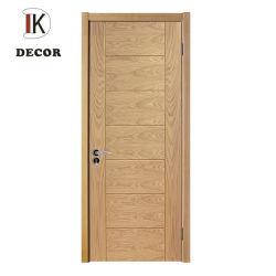 Portello di legno costruito Grooved interno di rossoreare della quercia di stile classico con effetto del comitato