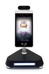 شاشة LCD مقاس 8 بوصات مزودة بوظيفة التعرف على الوجه مع وظيفة قياس درجة الحرارة