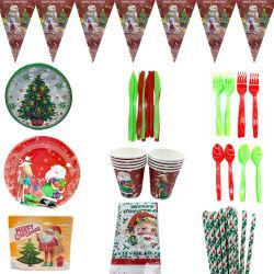 クリスマスの主題 Pumpkin のペーパー食器セット党装飾