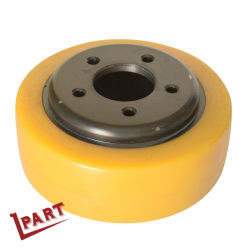 Carro elevador eléctrico de PU de peças da roda de acionamento 215x75/90mm