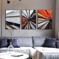 Resumen de metal 3D de aceite de aluminio impreso pintura interior de Casa moderna decoración de arte de pared
