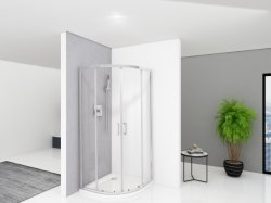 Экономическая серия сдвижной двери и душ с 5мм закаленного стекла