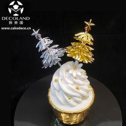 小型プラスチック金のクリスマスツリーの装飾