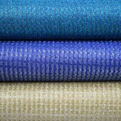 Net Diseño simple tapizado de cuero brillante Glitter zapatos de cuero sintético de PU para zapatos maletas
