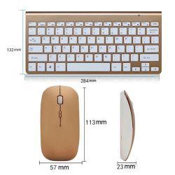 Smart TV Nalambrico Teclado Gamer Sem FiO Gaming 2,4 GHz Klavye Backlit Mini Bluetooth Tastatur mit Maus