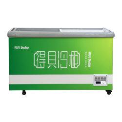 OEM/ODM Keyuan puerta corrediza de vidrio plano comercial helados de la isla de almacenamiento de Pecho profundo Mostrar arcón congelador frigorífico frigorífico supermercado equipamiento de cocina