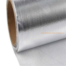 Una buena calidad recubiertos de lámina de aluminio laminado de tela ignífuga de rollo de tela de fibra de vidrio