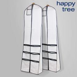Vestido de boda Bolsa de Abrigo prendas de vestir traje de viaje plegable Bolsa de cubierta del soporte con bolsillo