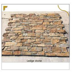 Vendita all'ingrosso Rusty Quartzite cemento pietra esterno rivestimento parete piastrelle Giardino Progettazione di pareti orizzontali
