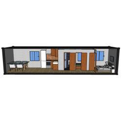Роскошный Сборные дома 40-футовом контейнере сегменте панельного домостроения изменения или гостиной транспортировочный контейнер Hysun модульного дома