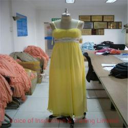Yellow Fancy Evening Dress Pre-Shipment Inspection/Kwaliteitsgarantie in Panyu Fabriek