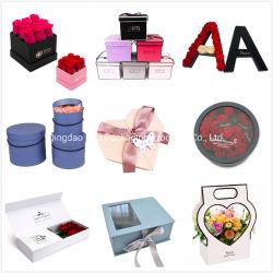 Cartón de embalaje plegable personalizado regalo Caja de papel de embalaje de la entrega de flores