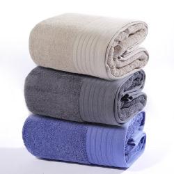 Frontière Dobby Serviette de bain Salle de bains 100 % Terry serviette de coton pour un hôtel 5 étoiles de la qualité des serviettes de cadeau
