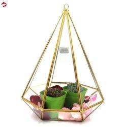 A pirâmide de vidro Vintage Jóias Stand Vitrine