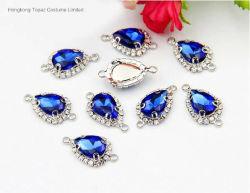 Commerce de gros pendentif cristal Rhinestone connecteur pour la fabrication de bijoux (TC-goutte 10*14)