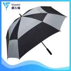 Großes Golf-Regenschirm-Doppelt-Kabinendach gelüftetes quadratischer Regenschirm-windundurchlässiges Extraautomatisches
