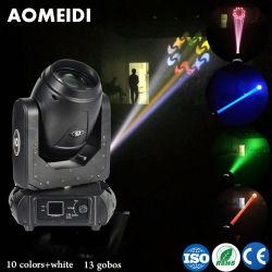 Hochzeit Dekoration Bühnenlicht Regenbogen Farbe 100W LED Strahl bewegen Head Club LED-Bühnenbeleuchtung