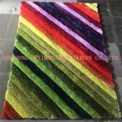 Polyester chinois à la main de tapis touffetés modèle 3D Shaggy tapis Designs