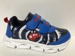 أحذية رياضية للأطفال العلوية من الألياف الدقيقة مع إضاءة داخلية