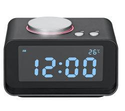 호텔에서는 이중 알람 FM이 있는 탁자와 데스크 시계를 사용합니다 듀얼 USB 충전 및 온도 디스플레이를 다시 사용할 수 있습니다