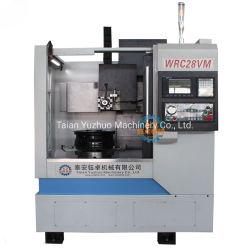 De verticale CNC Machine Wrc28vm van de Draaibank van het Knipsel van het Wiel die voor het Herstellen van de Oppervlakte van het Wiel wordt gebruikt