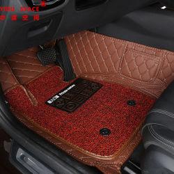 Stuoia anti di cuoio di cucito dell'automobile di slittamento 5D della mano personalizzata commercio all'ingrosso