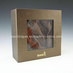 Cassa impaccante personalizzata della scatola del contenitore di regalo della casella del cassetto caldo del bollo di marchio con la finestra di plastica del PVC