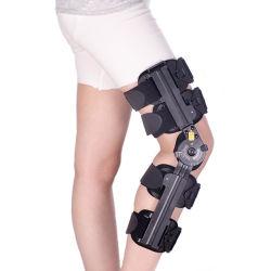 De orthopedische Regelbare Steun van de Knie van ROM van de Steun van het Been post-Op Scharnierende