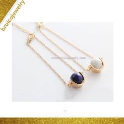 Barato al por mayor de moda plata personalizada Pulsera con cordón Pulsera de piedras preciosas para regalo promocional