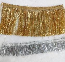 Neues Ankunfts-Goldsilberne Shinning Lurex Troddel-Franse-Zutat