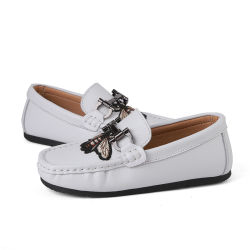 新しい到着の設計子供の偶然の靴子供の革 lafer の靴