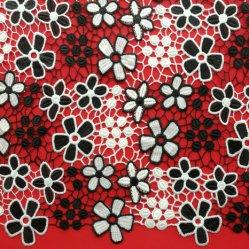 Deux tonalités broderie dentelle pour vêtements de couleur