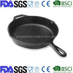 """前乾燥焦げ付き防止の14 """"猫の鉄のフライパンCostomize LFGBのFDAは承認した"""