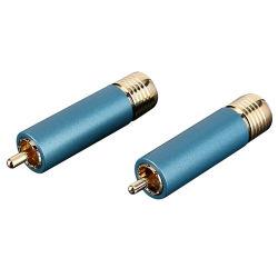 Fiche mâle RCA haut de gamme, libre de la soudure connecteur plaqué or