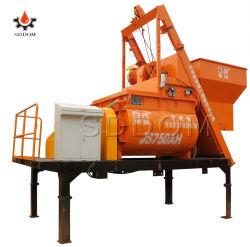Js500 0.5m3 유압 출력 단위 25m3/H 생산 능력을%s 가진 쌍둥이 샤프트 구체 믹서 시멘트 믹서